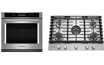 cooktop, wall-oven