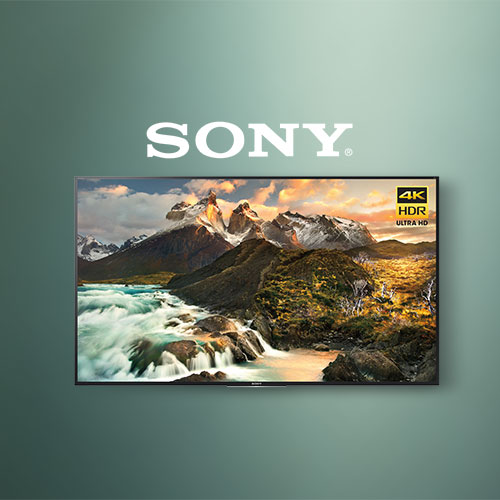 TV with Sony logo and green background